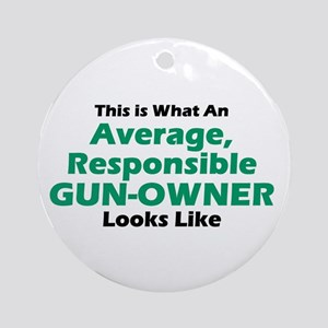 Gun-Owner Ornament (Round)