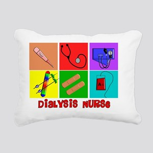 Dialysis Nurse Popart Rectangular Canvas Pillow