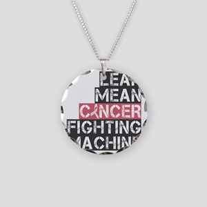 lean mean cancer fighting ma Necklace Circle Charm