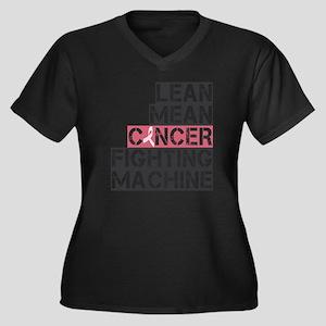 lean mean ca Women's Plus Size Dark V-Neck T-Shirt