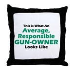 Gun-Owner Throw Pillow