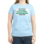 Gun-Owner Women's Pink T-Shirt