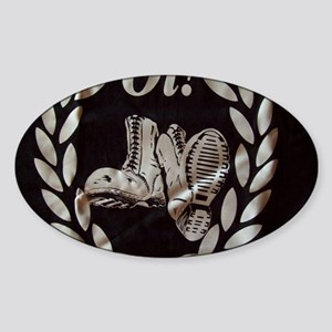 Oi Boots and Crest OiSKINBLU Sticker (Oval)