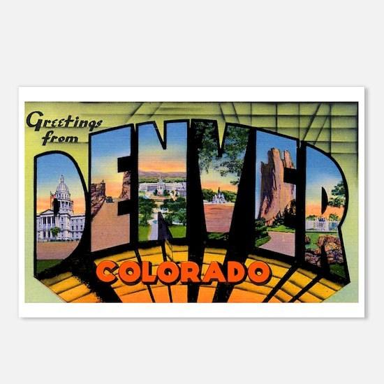 Denver Colorado Greetings Postcards (Package of 8)
