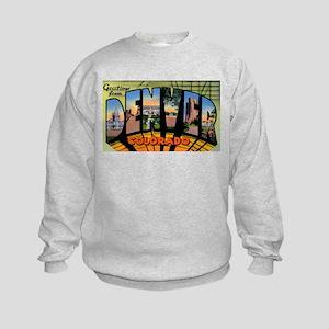 Denver Colorado Greetings (Front) Kids Sweatshirt