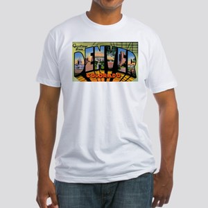 Denver Colorado Greetings (Front) Fitted T-Shirt