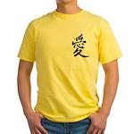 Kanji Love Yellow T-Shirt