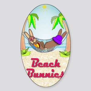 Beach Bunnies Card Sticker (Oval)