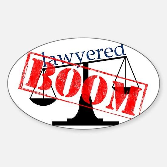 boom-big-light Sticker (Oval)