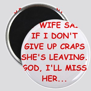 craps player gifts Magnet