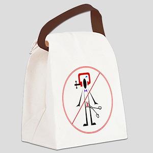 NO CIRCumcision Canvas Lunch Bag