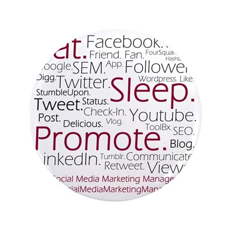 "Social Media Marketing Manager 3.5"" Button"