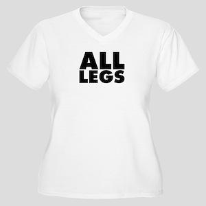 All Legs Women's Plus Size V-Neck T-Shirt
