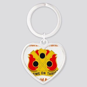 HQ and HQ Bn - 72nd Field Artillery Heart Keychain