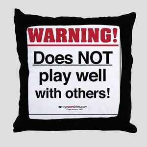 3-FS-58-L_Warning Throw Pillow