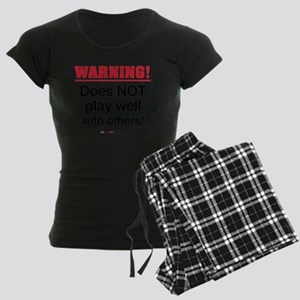 3-FS-58-L_Warning Women's Dark Pajamas
