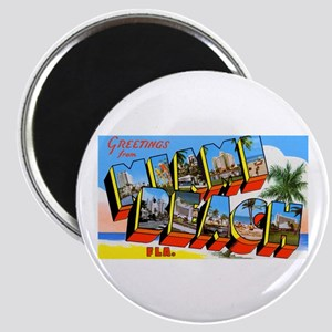 Miami Beach Florida Greetings Magnet