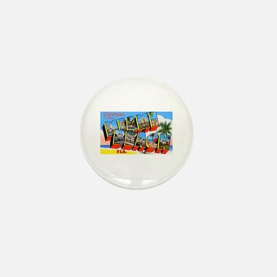 Miami Beach Florida Greetings Mini Button