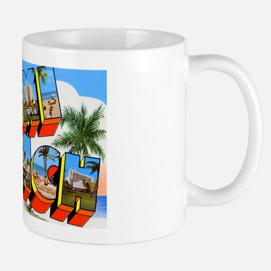 Miami Beach Florida Greetings Mug
