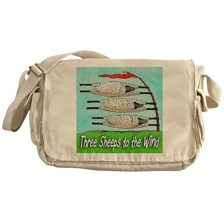 THREE SHEEPS TO THE WIND t shirt Messenger Bag