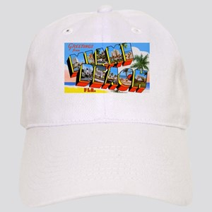 Miami Beach Florida Greetings Cap