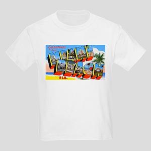 Miami Beach Florida Greetings (Front) Kids T-Shirt