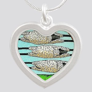 THREE SHEEPS TO THE WIND t s Silver Heart Necklace
