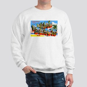 Miami Beach Florida Greetings (Front) Sweatshirt