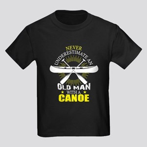 Never Understimate An Old Man With A Canoe T-Shirt