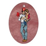 Shriners kids Oval Ornament