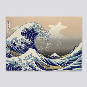 Hokusai_Great_Wave 5'x7'Area Rug
