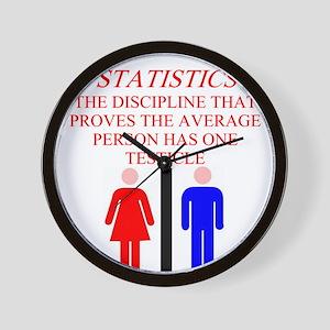 statistics joke Wall Clock