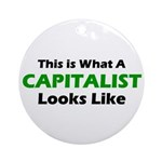 Capitalist Ornament (Round)