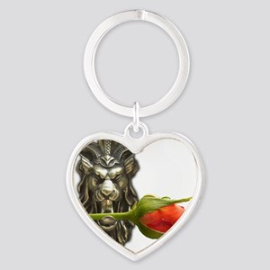 gargoyle rose Heart Keychain