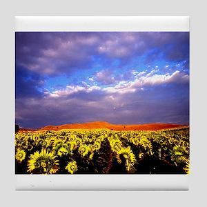 """Flowers"" Tile Coaster"