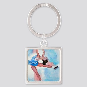 layback spin Square Keychain