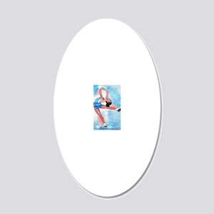 layback spin 20x12 Oval Wall Decal