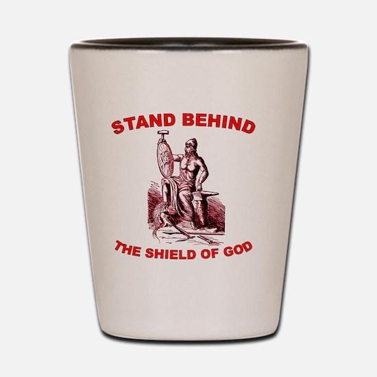 shield-of-god Shot Glass