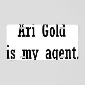 AriGoldAgent2 Aluminum License Plate