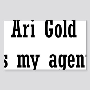 AriGoldAgent2 Sticker (Rectangle)