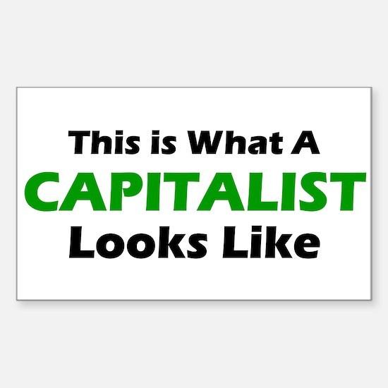 Capitalist Rectangle Decal