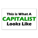 Capitalist Rectangle Sticker