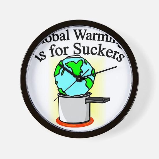 global-warming-suckers Wall Clock