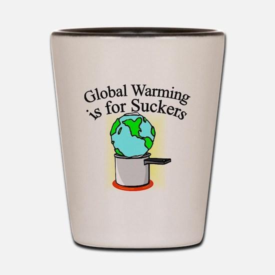 global-warming-suckers Shot Glass