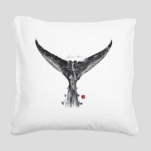 tunatail shirt Square Canvas Pillow