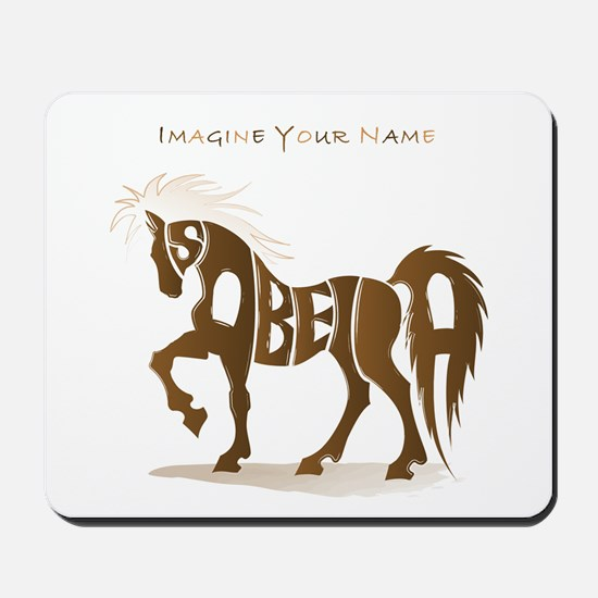 Isabella brown horse Mousepad
