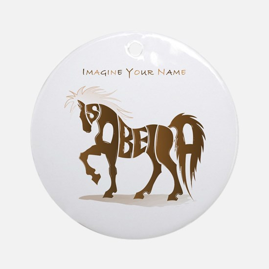 Isabella brown horse Ornament (Round)