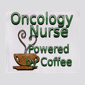 coffee oncology Throw Blanket