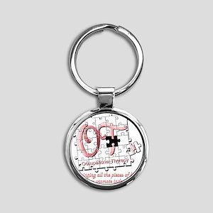 ot puzzle pink Round Keychain