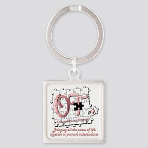 ot puzzle pink Square Keychain